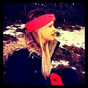 Headband and snow